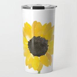 Watercolor Sunflower Travel Mug