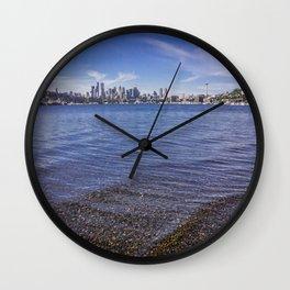 Lake Union and Seattle Skyline Wall Clock