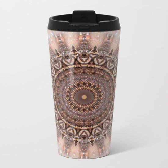 Mandala romantic pink Metal Travel Mug