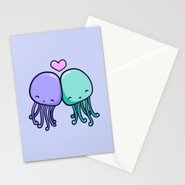 Cute jellyfish love Stationery Cards