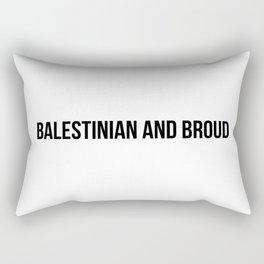 Proud x Black Rectangular Pillow
