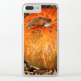Pumpkin Says Pick Me Clear iPhone Case