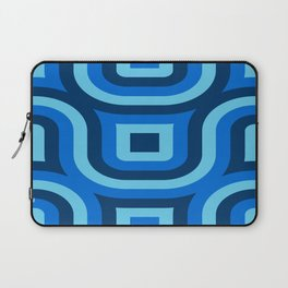 Blue Truchet Pattern Laptop Sleeve