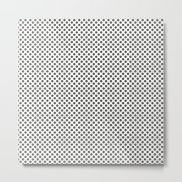 Pewter Polka Dots Metal Print
