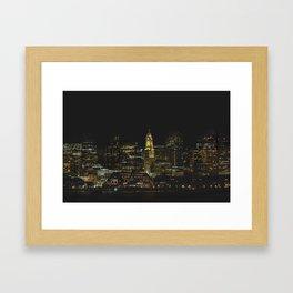 boston WATERFRONT Framed Art Print