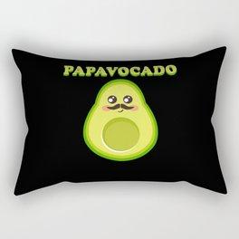 Papacado Papavocado Mustache Avocado Dad Father Rectangular Pillow