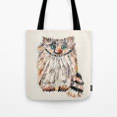 Funny  Cat  Nafaniya - Pastels - Painting Tote Bag