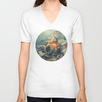 nautical V-neck T-shirts featuring Seachange by Terry Fan