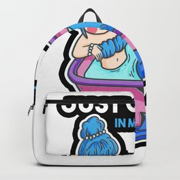 Mermaid girl holiday pool Backpack