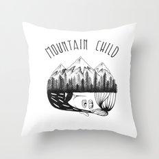 Mountain Child  Throw Pillow