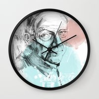 queens of the stone age Wall Clocks featuring Age by Strange Design