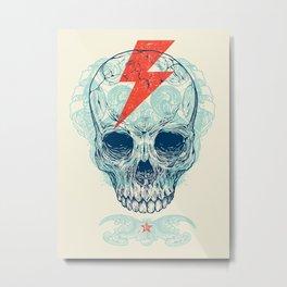 Skull Bolt Metal Print