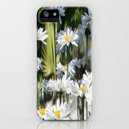 A Garden of White Daisy Flowers iPhone Case