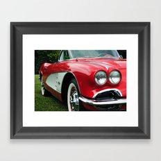 Red Corvette Framed Art Print