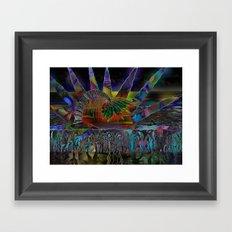 Doodlage 06 - Tropical Sundown Framed Art Print