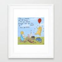winnie the pooh Framed Art Prints featuring Winnie the Pooh by Marilyn Rose Ortega
