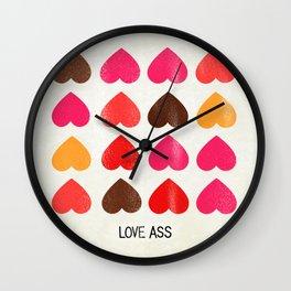 LOVE ASS Wall Clock