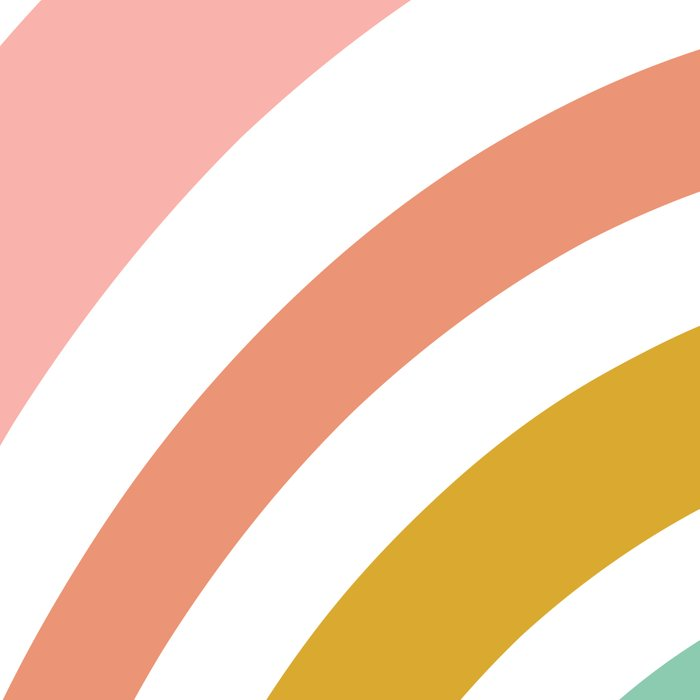 Simple Happy Rainbow Art Leggings