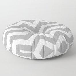 Quick Silver - grey color - Zigzag Chevron Pattern Floor Pillow