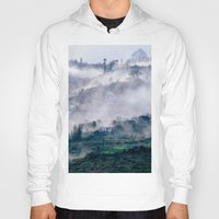 vietnam Hoodies featuring Foggy Mountain of Sa Pa in VIETNAM by CAPTAINSILVA