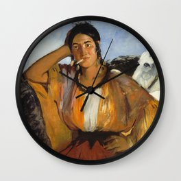 Edouard Manet - Gypsy With A Cigarette Wall Clock