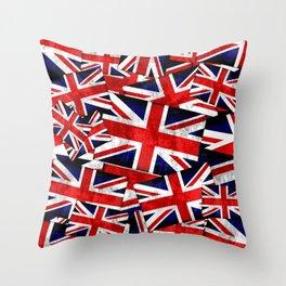 Union Jack British England UK Flag Throw Pillow