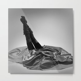 She's All Legs - Legs Up to Here black and white photography / photograph by Horst P. Horst Metal Print