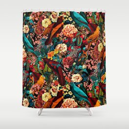 FLORAL AND BIRDS XVII Shower Curtain