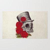 gentleman Area & Throw Rugs featuring Dead Gentleman by Rachel Caldwell