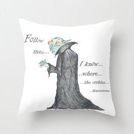 Follow Me, says the Vampire Throw Pillow