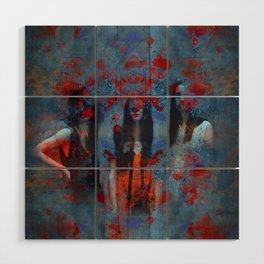Abstract three women Wood Wall Art