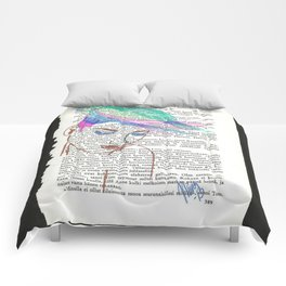 Parrot Hair Black Background Comforters