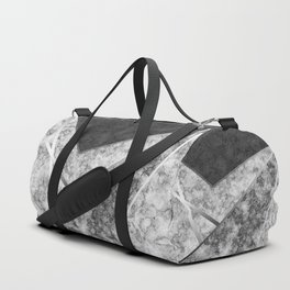 Combined abstract pattern in black and white . Duffle Bag