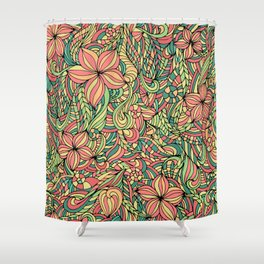 Floral delicate pattern Shower Curtain