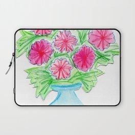 pink flowers in vase Laptop Sleeve