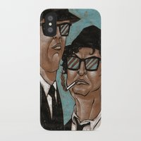 blues brothers iPhone & iPod Cases featuring The Blues Brothers by Dean Arscott Designs LLC