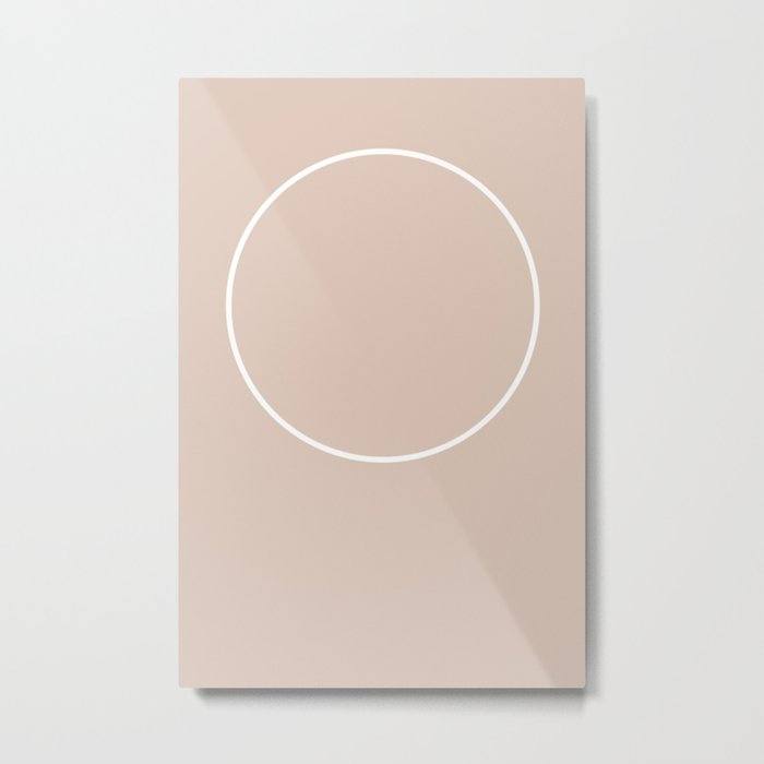 Eclipse Minimal Metal Print