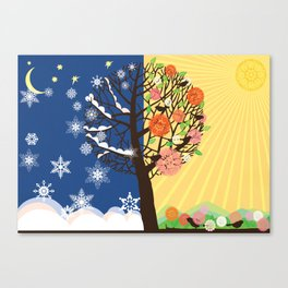 """Seasons"" Winter-Spring Canvas Print"