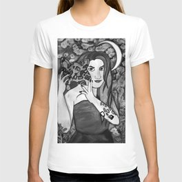 Hunter Behind The Mask - Black and White T-shirt