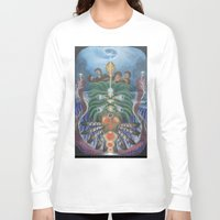teacher Long Sleeve T-shirts featuring Ocean Teacher by MANASPHERE studio