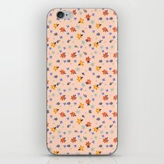 PEACH FLORAL iPhone Skin