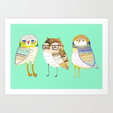 The Cutest owls. Art Print