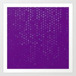 capricorn zodiac sign pattern pt Art Print