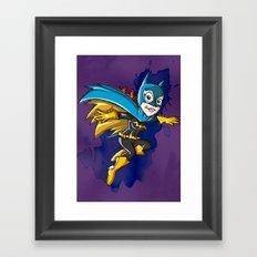 Batgirl! Framed Art Print