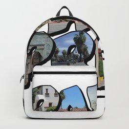 Big Letter Palm Springs California Backpack