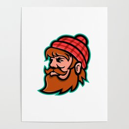 Paul Bunyan Lumberjack Mascot Poster