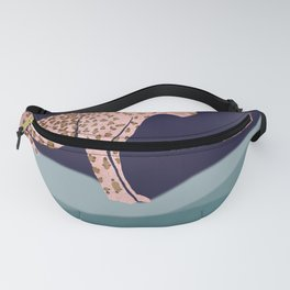 Pink Tiger on Mountain Fanny Pack