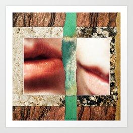 Love Will Tear Us Apart :: Fine Art Collage Art Print