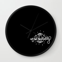#NetNeutrality   [black & white] Wall Clock