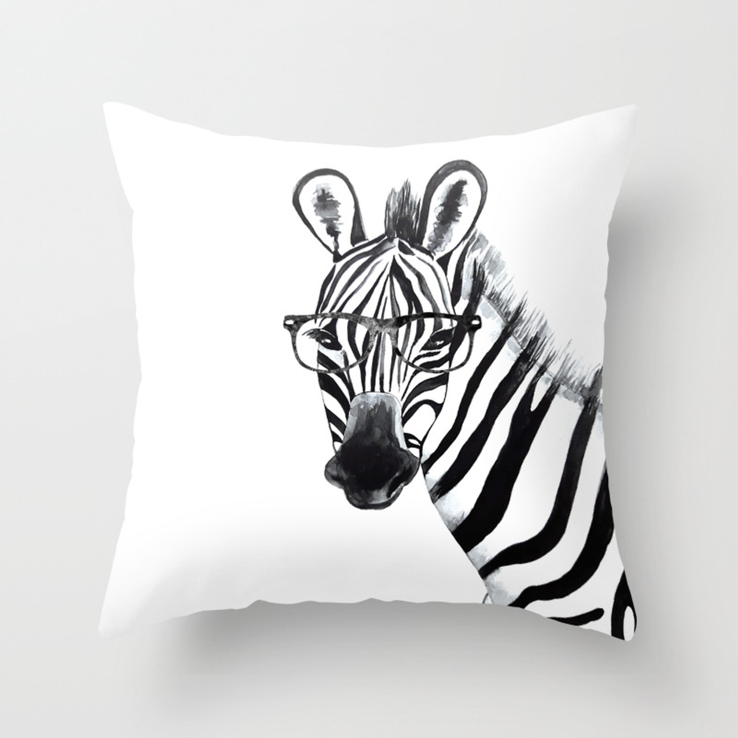 Gles Black And White Throw Pillow